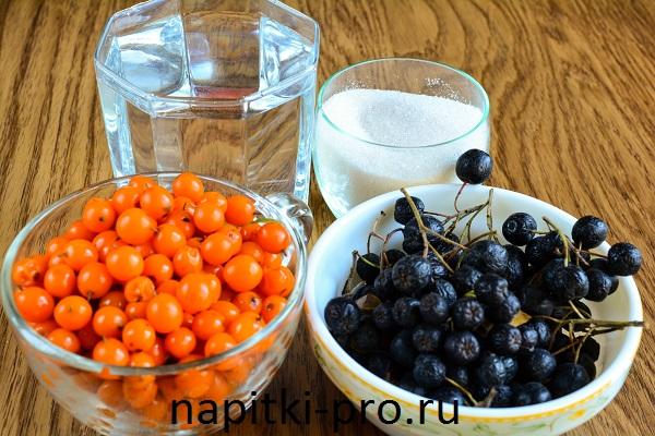джем из облепихи с черноплодной рябиной рецепт