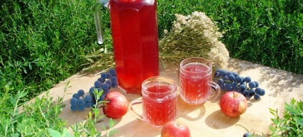 компот из яблок и винограда на зиму на 3-х литровую банку