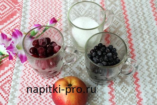 как правильно варить компот из замороженных ягод