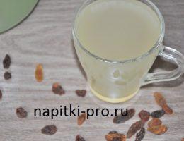 квас из березового сока с сухофруктами и изюмом